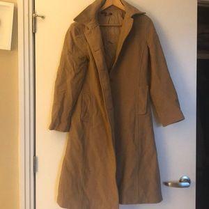 Camel coat large